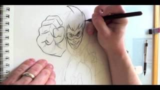 Freakazoid Ink Sketch