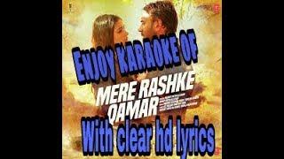 Mere rashke qamar full lyrics karaoke track hd baadshaho