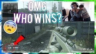 Little Brother Rages Over Modern Warfare Remastered 1v1! (Crazy Clutch)