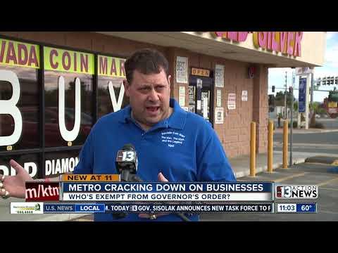 COVID-19 CRACKDOWN: Las Vegas Police Visit 113 Businesses, Suspend 7 Licenses Amid Shutdown