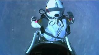 Felix Baumgartner, highest skydive ever [The highest parachute jump ever HD]