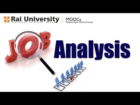 Job analysis, job