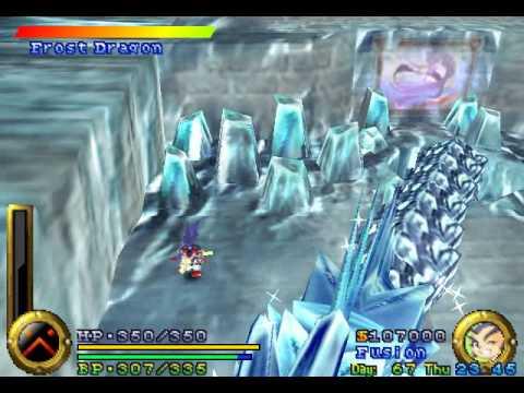 Brave Fencer Musashi - Boss 05 Frost Dragon (No Damage)