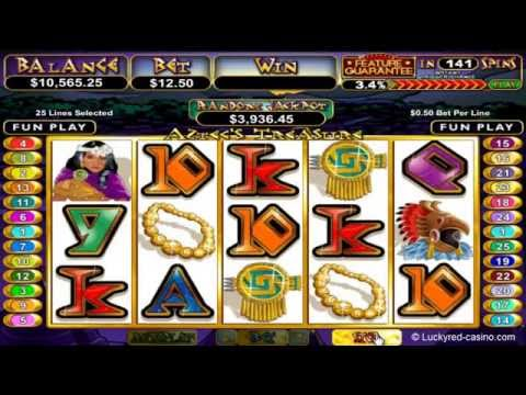 Aztec's Treasure Slot (With Feature Guarantee!) In Lucky Red Casino.