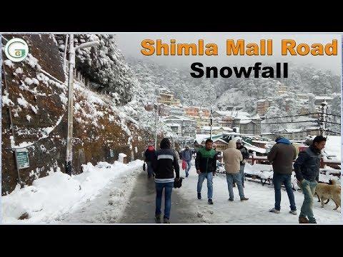 Snowfall in Shimla Mall Road 2018 | Genius Guruji Vlog #3