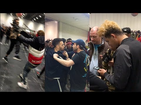 HE TRIED STEALING SUPREME AT SNEAKERCON LONDON!!! *MUST WATCH*