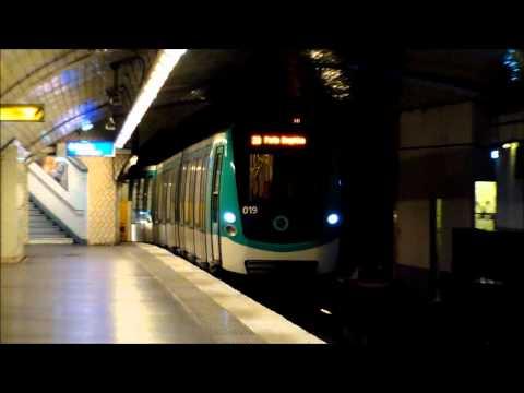 Metro Paris: Ligne 2: Der Endbahnhof Porte Dauphine mit Tunnel-Wendeschleife