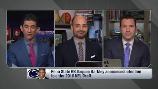 Ian Rapoport: Giants Should take Saquon Barkley with the  No. 2 Overall Pick in the Draft?