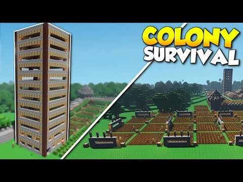 SKYSCRAPER FARM & OUTSIDE THE WALLS! - Colony Survival Gameplay [Ep 9]