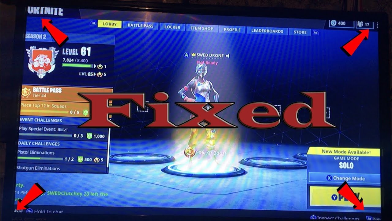how to fix fortnite screen cut off xbox one and ps4 - fortnite mouse going off screen