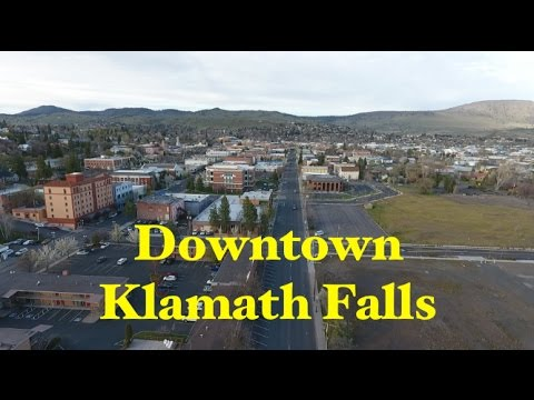 Klamath Falls - Downtown (by drone)