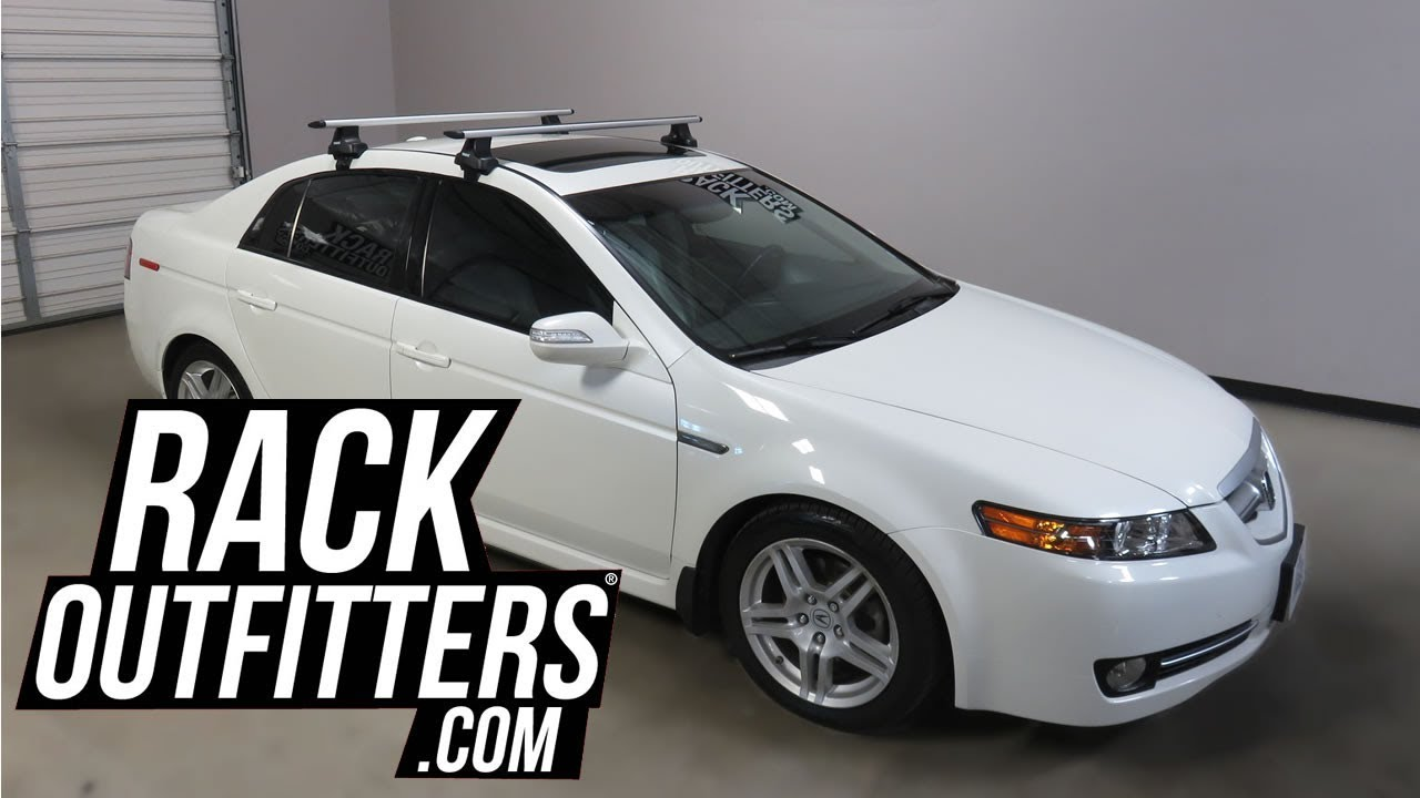 To Acura TL Sedan With Thule Rapid Traverse AeroBlade Roof - Acura tsx roof rack