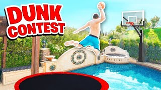INSANE 2HYPE POOL TRAMPOLINE DUNK CONTEST