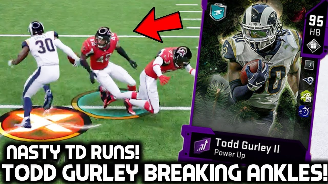 Todd Gurley Breaking Players Ankles Nasty Td Runs Madden 20 Ultimate Team Youtube
