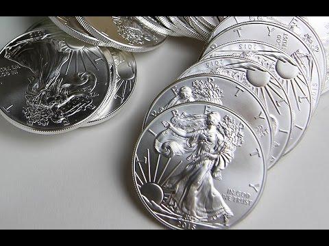 1oz Silver Coins Stack | Silver American Eagle 2016 | China Panda 2017 |