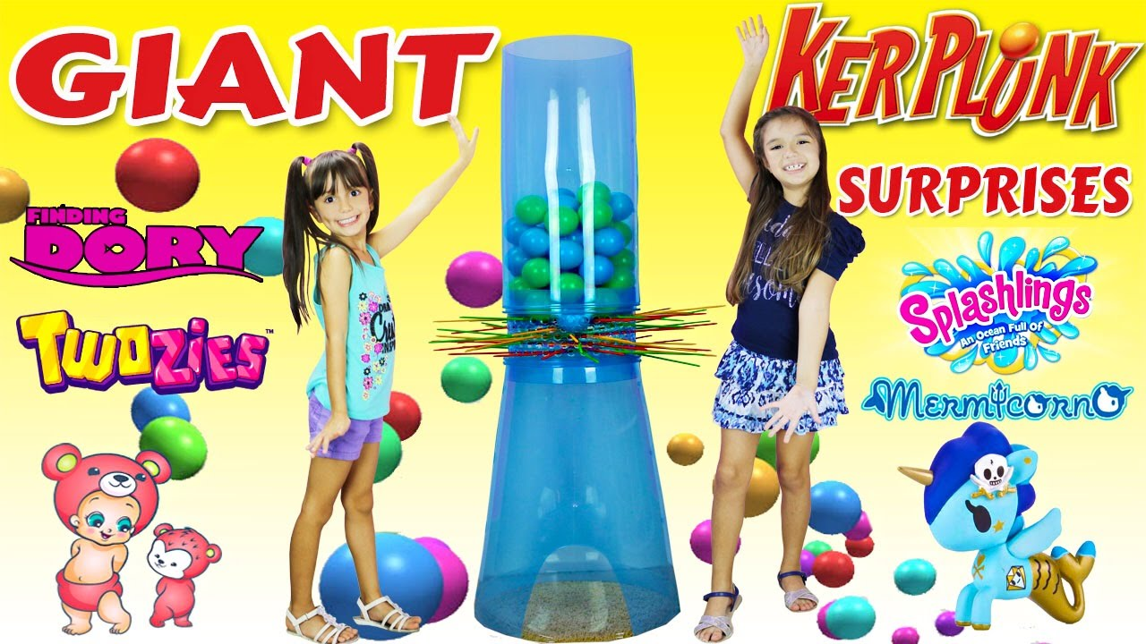 Giant Kerplunk Family Fun Games For Kids Disney Finding