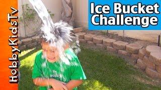 HobbyKid + HobbyDad ICE BUCKET CHALLENGE! Uh Oh Burrrrr by HobbyKidsTV