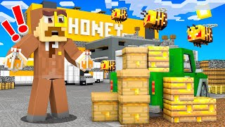 I Built a BEE FACTORY in Camp Minecraft