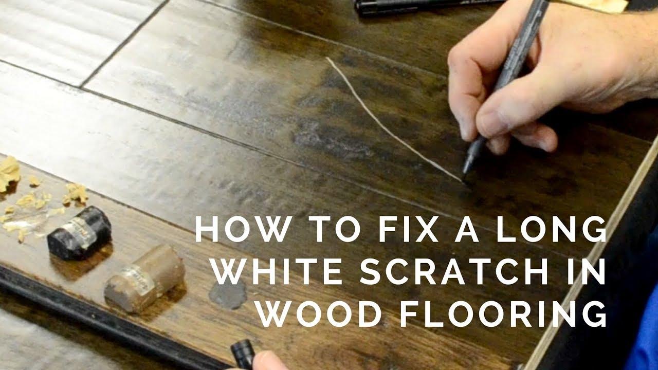 FIX A WHITE FLOORING SCRATCH  Hardwood Floor Scratch Repair