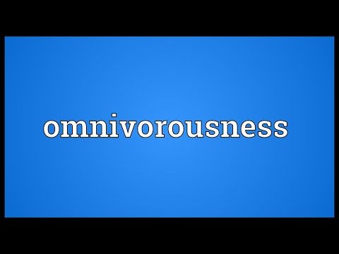 Header of omnivorousness