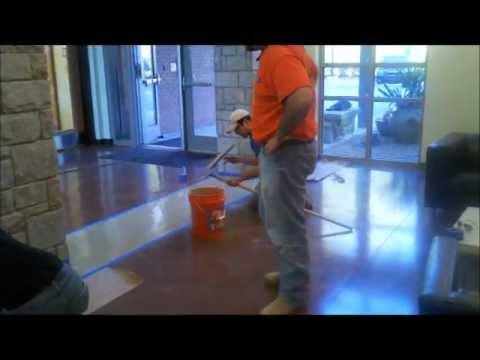 Atlanta Stained Concrete Basement Floor Coating #8-CLIFF VALLEY SCHOOL