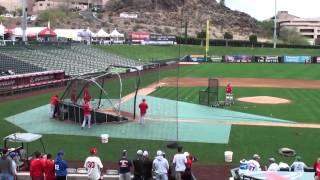 Mike Trout Warm Ups and Batting Practice Spring Training 2015
