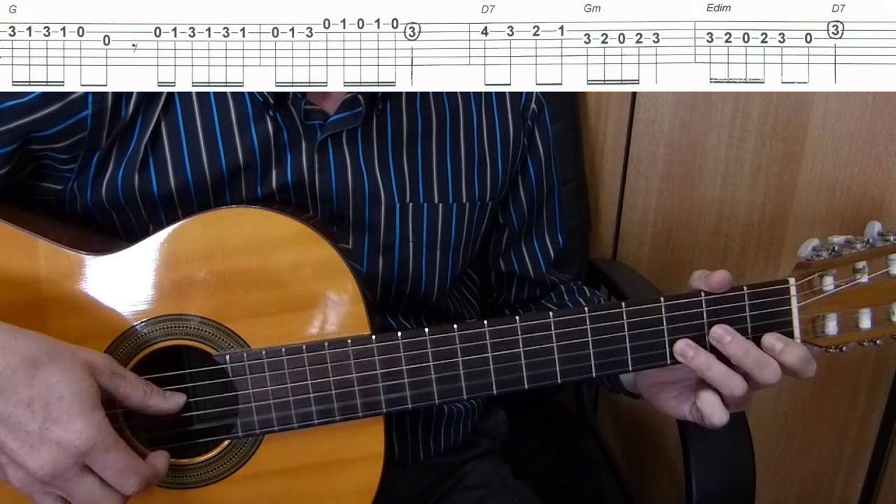 If I Were A Rich Man Easy Guitar Melody Tutorial Tab Guitar