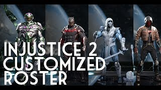 Customized INJUSTICE 2 Roster Showcase