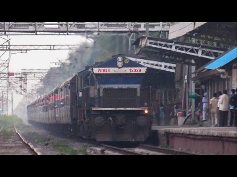 Offlink Treat...!!! Tirunelveli Hapa Express With Roaring Offlink UBL WDG4