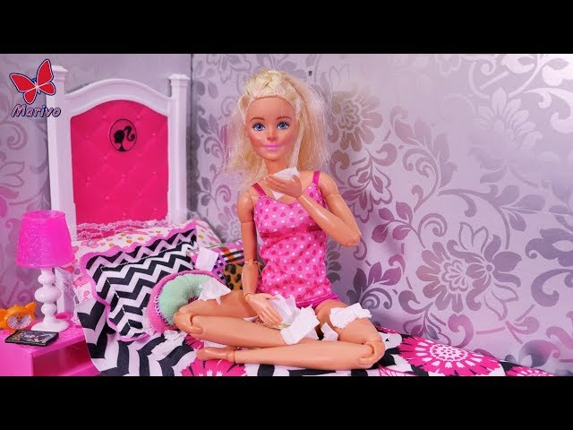 Barbie is SICK! 🌡🌡 Flu Therapy and Kens Rescue! 🌡🌡Funny story with dolls for kids 🌡🌡 BARBIE NEW EP