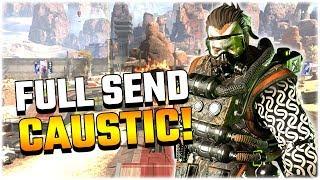 AGGRESSIVE CAUSTIC IN SOLO MODE!! (Apex Legends PS4)