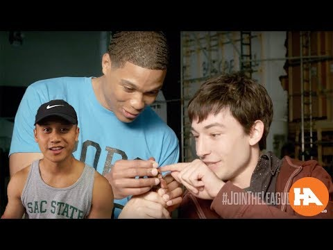 Ezra miller and Ray Fisher Unbox Their Justice League Action Figures