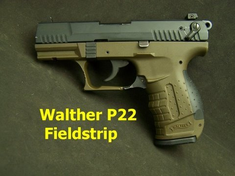 walther p22 field strip cleaning stripping clean gun