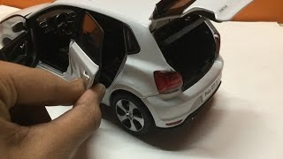 100$ Diecast Unboxing-2016 Volkswagen Polo(candy white) 1/18 Paudi models