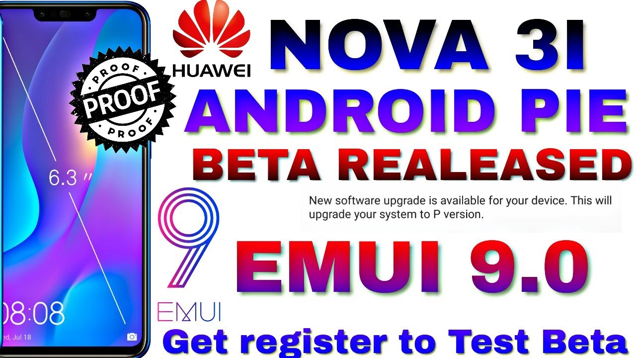 Huawei Nova 3i Android pie(Emui9) beta update released Test it in beta  version being beta tester now