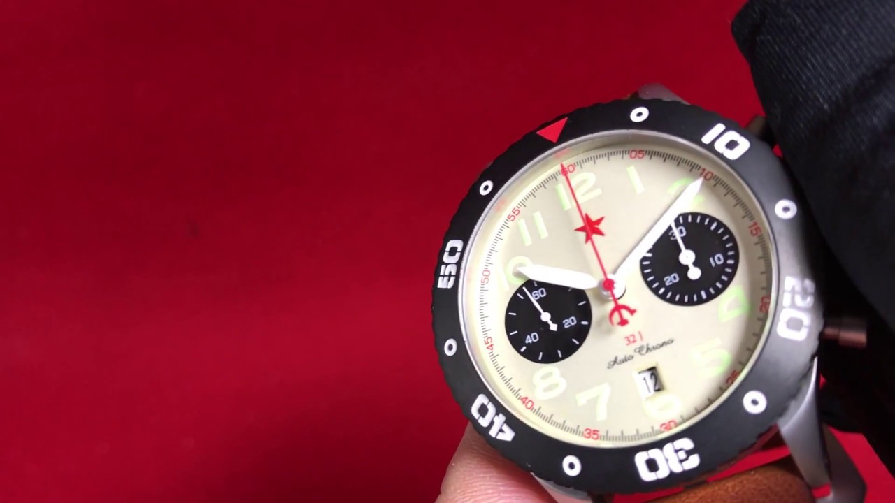 be3336b74 Roter Stern Automatik Chronograph 7767G-A RED STAR by Poljot24de