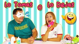 LO TOMAS O LO DEJAS SLIME  Take it or Leave it  Marta VS David  Como se Hace