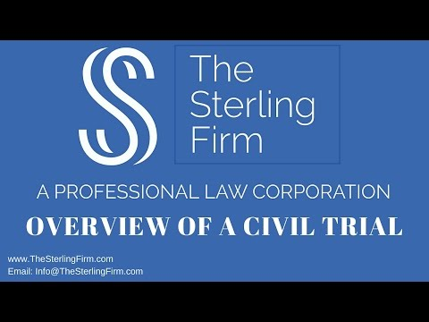 OVERVIEW OF A CIVIL TRIAL
