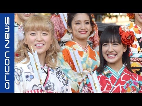 E-girls・Ami、新成人・藤井夏恋に「飲みすぎないで」 晴れ着姿でヒット祈願