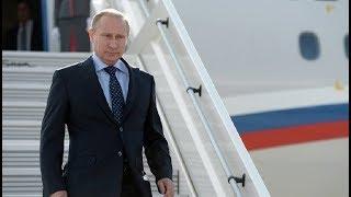 Смотреть видео Прилет Владимира Путина в Италию. Полное видео онлайн