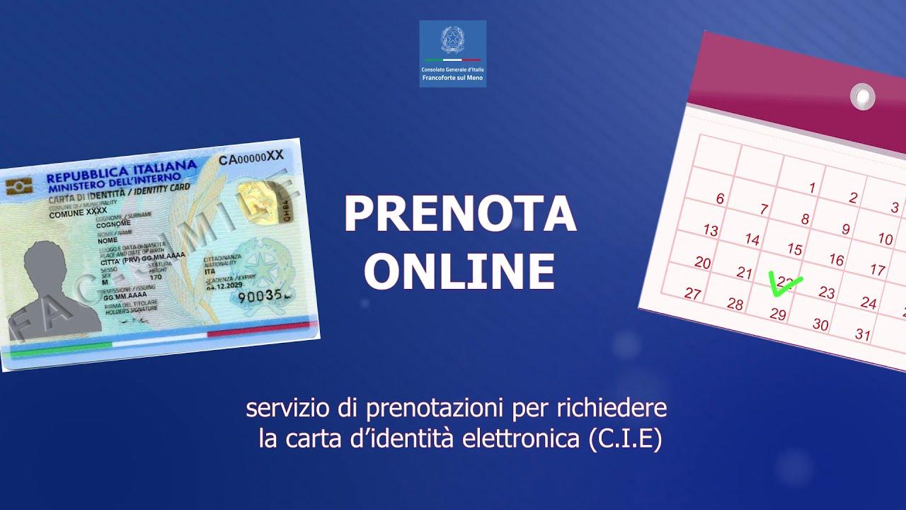 """Carta d'identità elettronica: come fissare un appuntamento con """"Prenota  Online"""" - YouTube"""