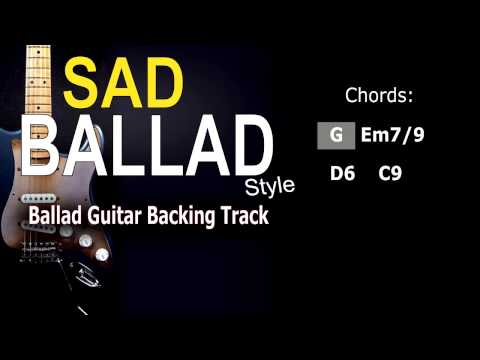 Sad Ballad #2 (SteveVai, JoeBonamassa,..) Guitar Backing Track 62 Bpm Highest Quality