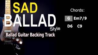 Sad Ballad #2 (SteveVai, JoeBonamassa,..) Guitar Backing Track 62 Bpm Highest Quality