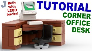 Tutorial - Lego Corner Office Desk [cc]
