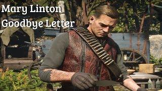 Red Dead Redemption 2 - Arthur Reads Mary Linton Goodbye Letter (Arthur Morgan's Ex Girlfriend)