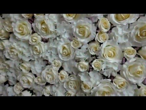 DIY Flower Backdrop