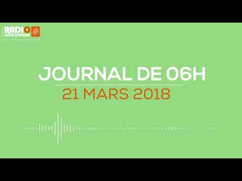 Le journal de 06h00 du 21 mars 2018- Radio Côte d'Ivoire