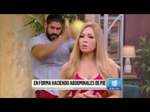 LOS ABDOMINALES DE PIE QUE TE RECOMIENDA CLAUDIA MOLINA
