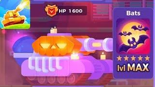 Tank Stars - Gameplay Walkthrough part 50 - Tank Pumpkin & Bats Weapon Max lvl (iOS,Android)