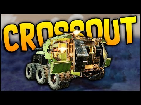 crossout---it-just-does-so-much-damage!-3-miniguns-+-3-coolers-+-3-radiators!---crossout-gameplay